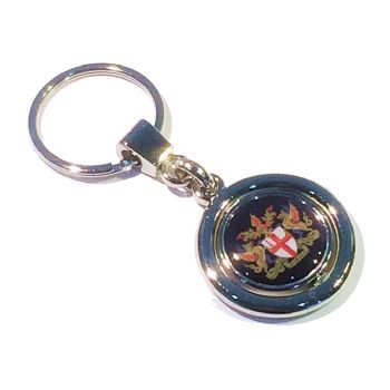 Keyring Blank Spinner 21.4mm and printed domes